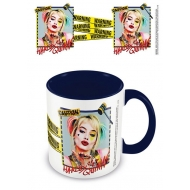 Birds Of Prey - Mug Coloured Inner Harley Quinn Warning