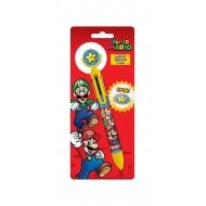 Super Mario - Stylo 6 couleurs Burst