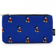 Disney - Sac cosmétique Mickey Print Blue By Loungefly
