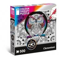 Puzzle Clementoni 3D Colour Therapy Chouette (500 pièces)