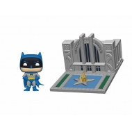 Batman 80th- Figurine POP! Batman & Hall of Justice 9 cm
