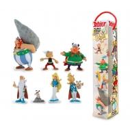 Asterix -  Tubo 7 figurines personnages d' Astérix 4 à 10 cm