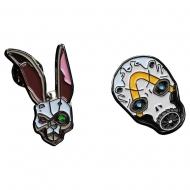 Borderlands - Pack 2 pin's Bunny & Psycho Mask