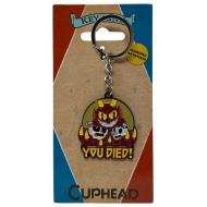 Cuphead - Porte-clés métal You Died! Limited Edition 4 cm