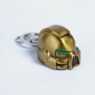 Warhammer 40K - Porte-clés métal Space Marine MKVII Helmet Gold