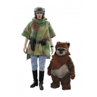 Star Wars Episode VI - Pack 2 figurines Movie Masterpiece 1/6 Princess Leia & Wicket 15-27 cm