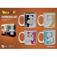 Dragon Ball Super - Pack 4 tasses Espresso Goku