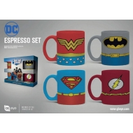 DC Comics - Pack 4 tasses Espresso Uniforms