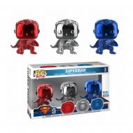 Justice League - Pack 3 figurines POP! Vinyl Superman (Landing) (Chrome) Fall Convention 2018 9 cm