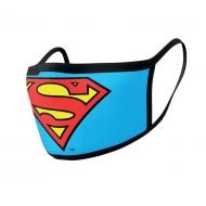 Superman - Pack 2 Masques en tissu Logo Superman