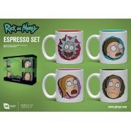 Rick et Morty - Pack 4 tasses Espresso Characters
