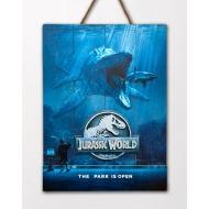 Jurassic World - Tableau en bois Jurassic World WoodArts 3D Mossasaurus 30 x 40 cm
