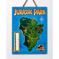 Jurassic Park - Tableau en bois Jurassic Park WoodArts 3D Isla Nublar 30 x 40 cm