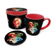 Harry Potter - Mug avec sous-verre Crests