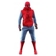 Spider-Man : Far From Home - Figurine Movie Masterpiece 1/6 Spider-Man (Homemade Suit) 29 cm