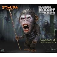 La Planète des singes L'Affrontement - Statuette Deform Real Series Soft Vinyl Caesar Warrior Face LTD