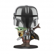 Star Wars The Mandalorian - Figurine POP! Super Sized The Mandalorian holding The Child 25 cm