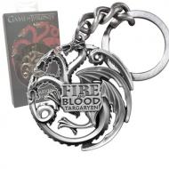 Le Trône de fer - Porte-clés métal Targaryen Sigil Gunmetal