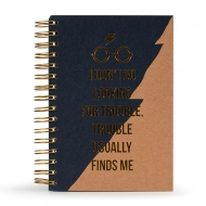 Harry Potter - Carnet de notes Premium A5 Trouble Usually Finds Me