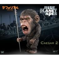 La Planète des singes : Les Origines - Statuette Deform Real Series Soft Vinyl Caesar Spear Ver. 15 cm
