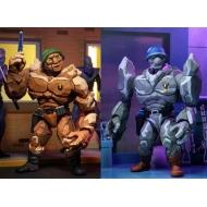 Les Tortues ninja - Pack 2 figurines Tragg & Grannitor 18 cm