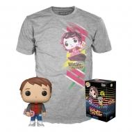 Retour vers le Futur- Set Figurine POP! et T-Shirt Marty heo Exclusive