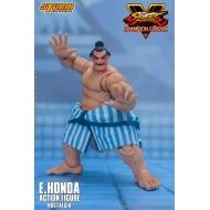 Street Fighter V Champion Edition - Figurine 1/12 E. Honda Nostalgia Costume 18 cm