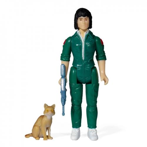 Alien - Figurine ReAction Ripley with Jonesy (Blue Card) 10 cm