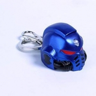 Warhammer 40K - Porte-clés métal Space Marine Primaris Helmet Ultramarine