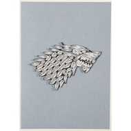 Game of Thrones - Carte Quilled House Stark