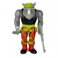 Les Tortues ninja -Figurine ReAction Rocksteady 10 cm