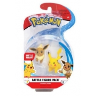 Pokémon - Pack 2 figurines Battle Évoli & Pikachu 5 cm