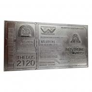 Alien - Réplique Nostromo Ticket Limited Edition (plaqué argent)