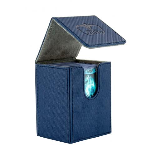 Ultimate Guard - Boîte pour cartes Flip Deck Case 80+ taille standard XenoSkin Bleu