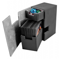 Ultimate Guard - Boîte pour cartes Flip'n'Tray Deck Case 80+ taille standard XenoSkin Noir