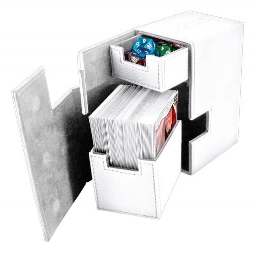 Ultimate Guard - Boîte pour cartes Flip'n'Tray Deck Case 80+ taille standard XenoSkin Blanc