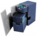 Ultimate Guard - Boîte pour cartes Flip'n'Tray Deck Case 80+ taille standard XenoSkin Bleu