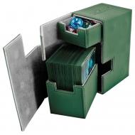 Ultimate Guard - Boîte pour cartes Flip'n'Tray Deck Case 80+ taille standard XenoSkin Vert