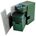 Ultimate Guard - Boîte pour cartes Flip'n'Tray Deck Case 80+ taille standard XenoSkin Vert