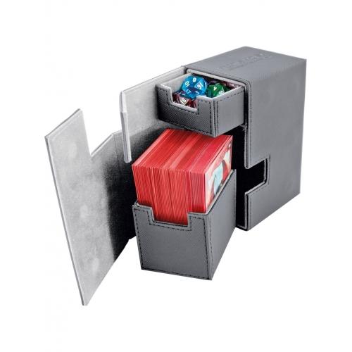 Ultimate Guard - Boîte pour cartes Flip'n'Tray Deck Case 80+ taille standard XenoSkin Gris