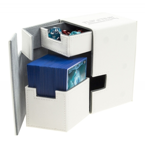Ultimate Guard - Boîte pour cartes Flip'n'Tray Deck Case 100+ taille standard XenoSkin Blanc