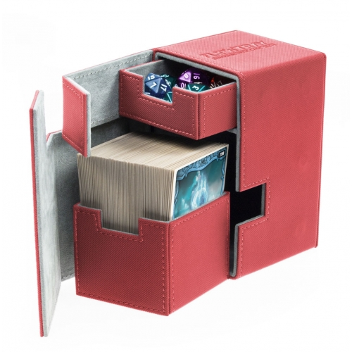 Ultimate Guard - Boîte pour cartes Flip'n'Tray Deck Case 100+ taille standard XenoSkin Rouge