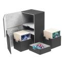 Ultimate Guard - Boîte pour cartes Twin Flip'n'Tray Deck Case 200+ taille standard XenoSkin Noir