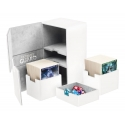 Ultimate Guard - Boîte pour cartes Twin Flip'n'Tray Deck Case 200+ taille standard XenoSkin Blanc