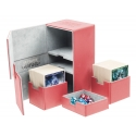 Ultimate Guard - Boîte pour cartes Twin Flip'n'Tray Deck Case 200+ taille standard XenoSkin Rouge