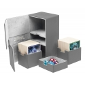 Ultimate Guard - Boîte pour cartes Twin Flip'n'Tray Deck Case 200+ taille standard XenoSkin Gris