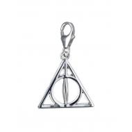 Harry Potter - Charm argent Clip-On Reliques de la Mort (argent sterling)