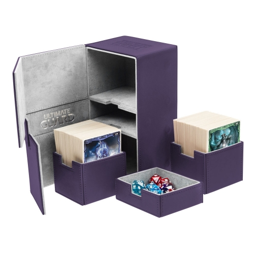 Ultimate Guard - Boîte pour cartes Twin Flip'n'Tray Deck Case 200+ taille standard XenoSkin Violet