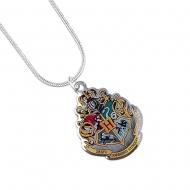 Harry Potter - Pendentif et collier plaqués argent Hogwarts