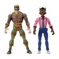 Les Tortues ninja - Pack 2 figurines Rat King & Vernon 18 cm